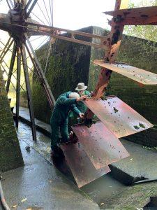 Waterwheel repairs