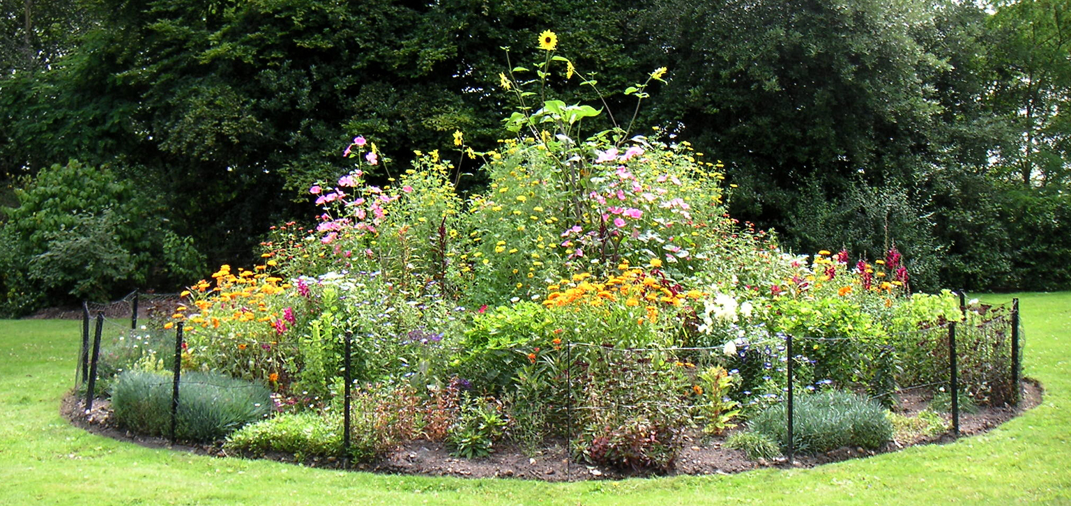 Flower bed at Painshill