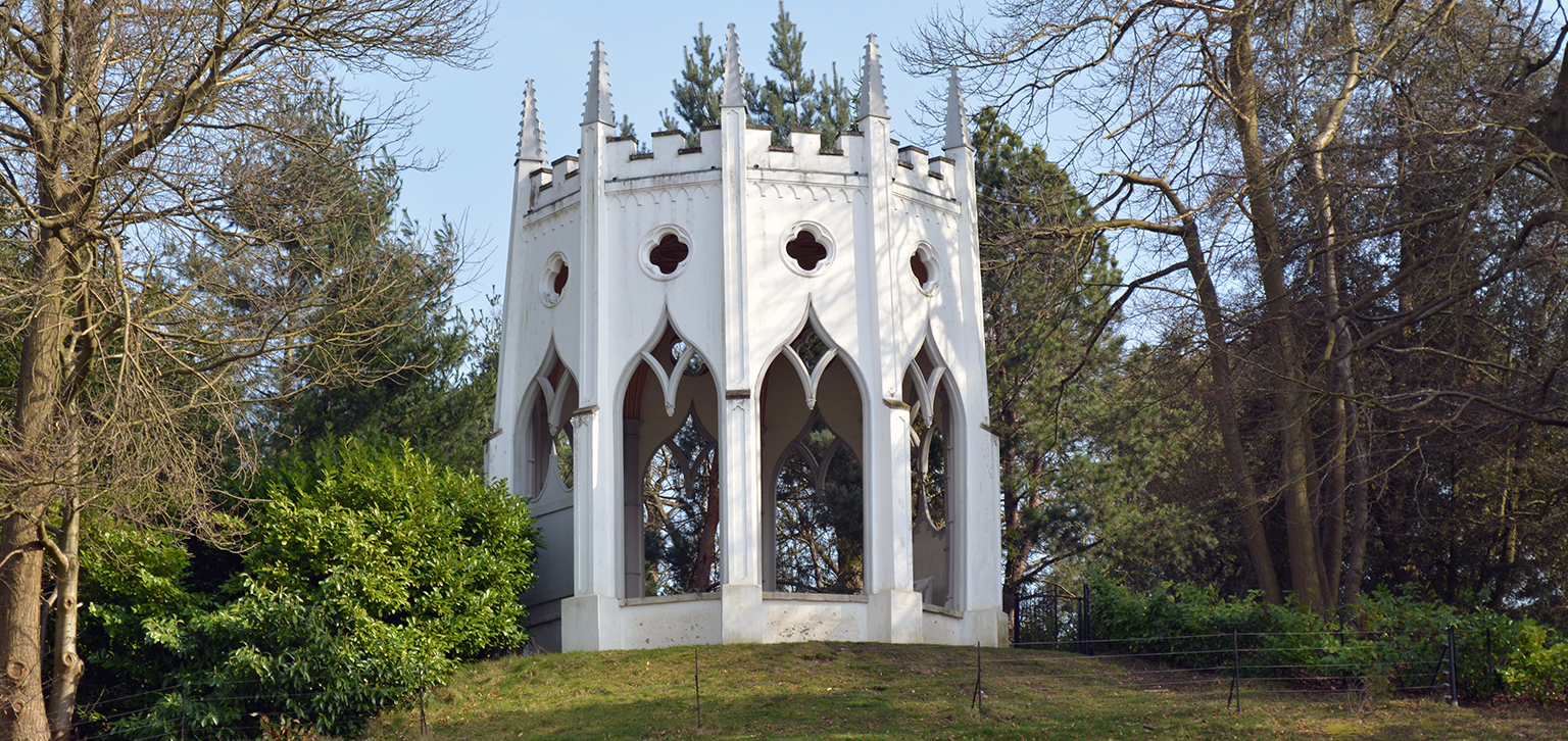 Gothic Temple in Spring