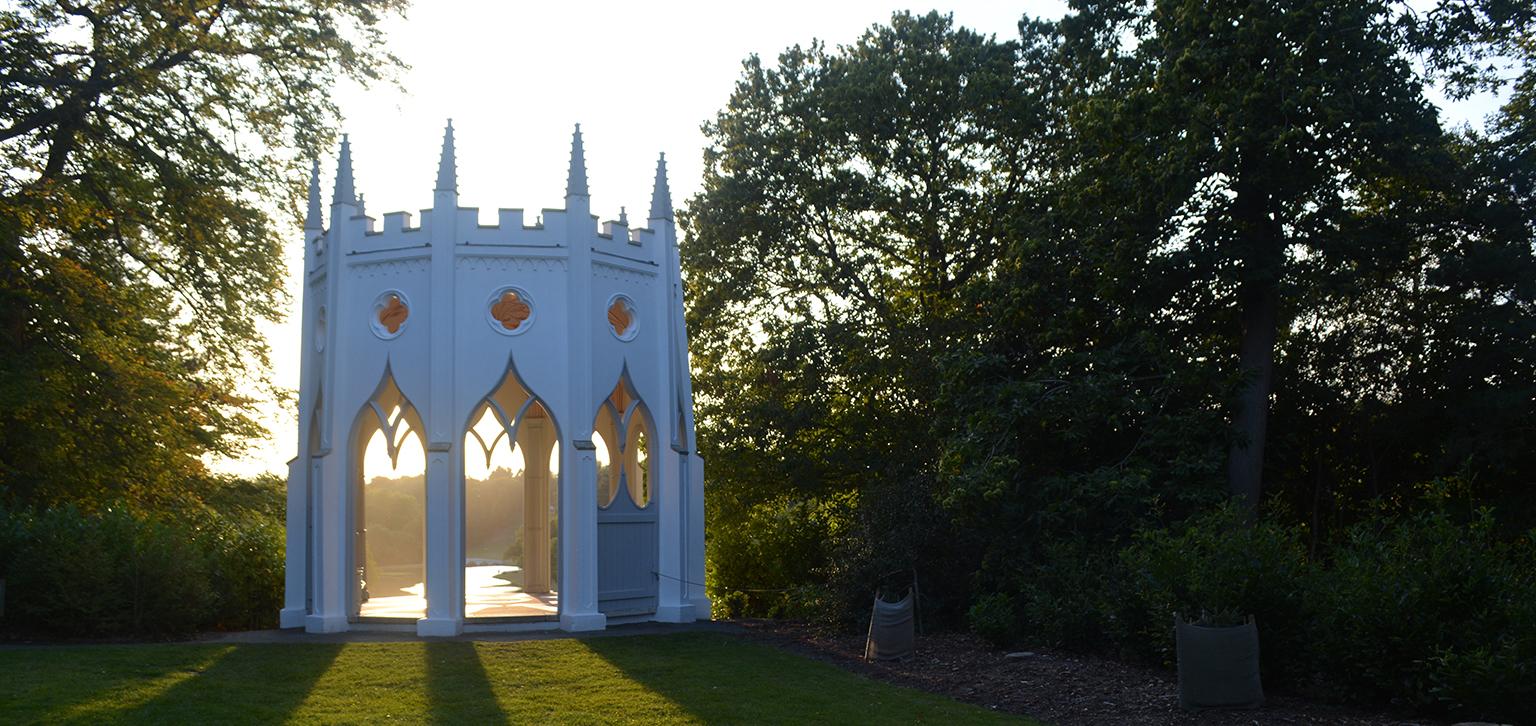 Gothic temple shadows