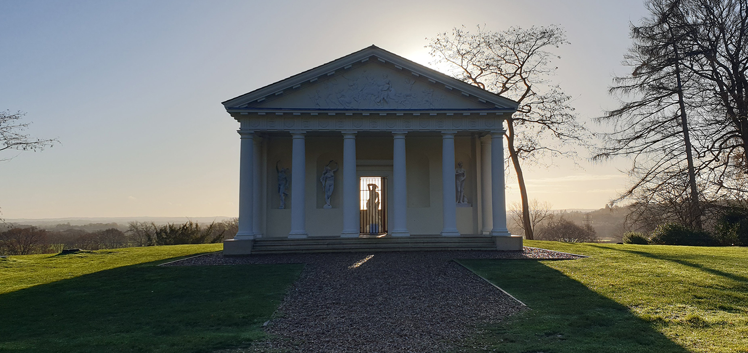 Temple of Bacchus at sunset
