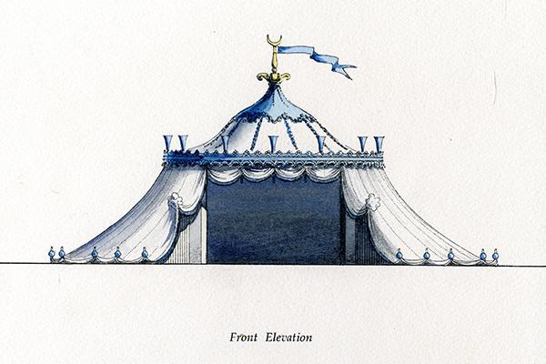 Painshill Turkish Tent Illustration