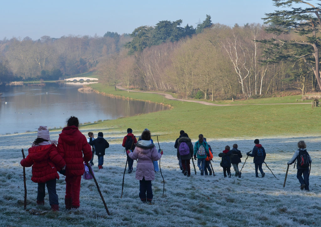 key stage 2 outdoor learning at Painshill